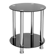 cheap black glass coffee table furniture art by chaisse limited round black glass side table