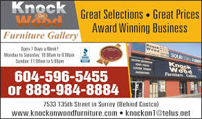 Knock On Wood Furniture Gallery Surrey BC   St - Knock on wood furniture