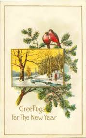 new year s postcards new years day vintage postcards two