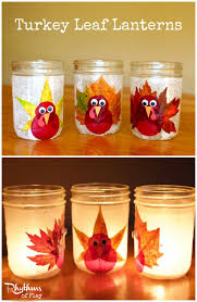 thanksgiving crafts turkey leaf lanterns crafts