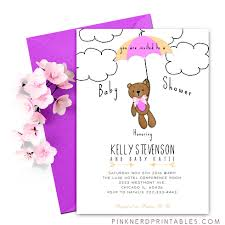 baby shower teddy invitation modern baby shower for a