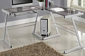 Z Line Belaire Glass L Shaped Computer Desk Desks Walker Edison D51x29cb Walker Edison Soreno 3 Piece Corner