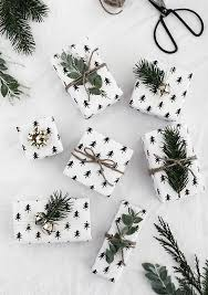 black and white christmas wrapping paper diy gift wrapping ideas free printable christmas tree wrapping