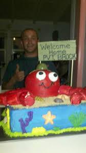 military welcome home tropical cartoon crab cake cakecentral com
