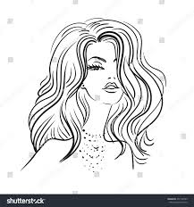 face beautiful on white background stock vector 437142385