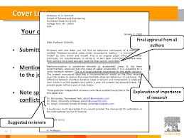 ideas of cover letter for elsevier journal sample on format sample