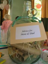 beach baby shower message in a bottle advice for mom and dad