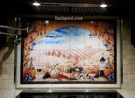 Ceramic Tile Mural Backsplash by Italian Tile Murals Tuscany Backsplash Tiles