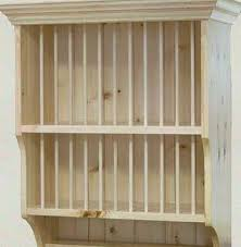 Woodworking Storage Shelf Plans by Plate Rack Plans Building U2013 Wooden Plate Rack Wall Mounted
