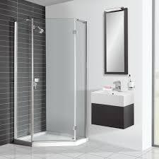 simpsons design pentagon shower enclosure dptsc0900 drench