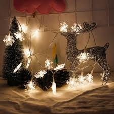 snowflake string of lights 2 1m 20leds snowflake string lights led fairy lighting string xmas