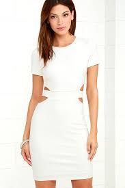 cut out dress white dress bodycon dress lwd cutout dress 56 00