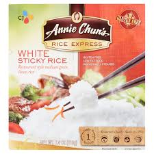 annie chun u0027s rice express white sticky rice 7 4 oz walmart com