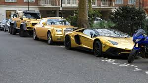 gold chrome bentley arab prince owns fleet of gold cars