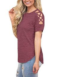 shoulder cut out blouse astylish cold shoulder cut out blouse casual t shirt