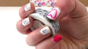 design selber machen nail design mit washi selber machen diy fingernägel washi