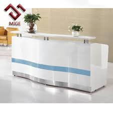 Gloss White Reception Desk High End Marble High Gloss White Modern Office Reception Desk