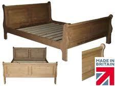 Pine Sleigh Bed Frame Pine Sleigh Bed Ebay