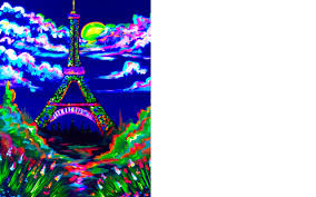 how to use black light paint blacklight painting party how to paint the eiffel tower art