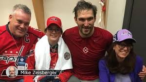 ovechkin fulfills promise to 13 year cancer survivor nhl