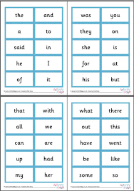 Words Cards 100 High Frequency Word Cards