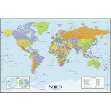 Flat World Map Minecraft by World Map Dry Erase Peel And Stick Giant Wall Decals Toys