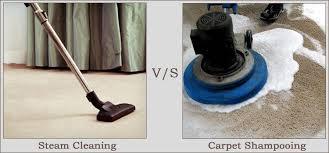 steam cleaning v s carpet shooing