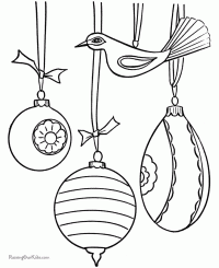 tree ornaments drawings merry and happy new