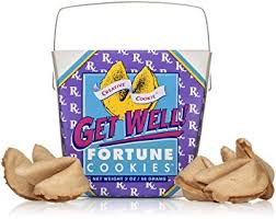 get well soon cookies get well get better soon gift fortune cookies in