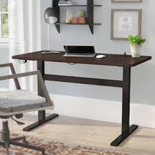 small electric standing desk height adjustable standing desks you ll love wayfair