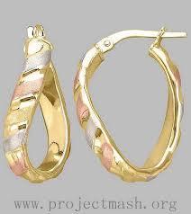 Hoop Earrings With Name Low Price Name Brand Robert Lee Morris Soho Silvertone Hammered