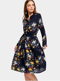 flower dress drawstring waist sleeve flower dress floral midi dresses m