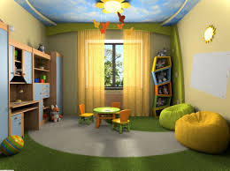 kids bedroom amazing blue sky ceiling with chic yellow also green