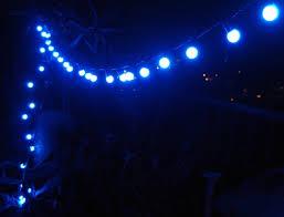 Outdoor Blue Lights 50 Blue Led Large String Lights 17ft Black Cord On Sale
