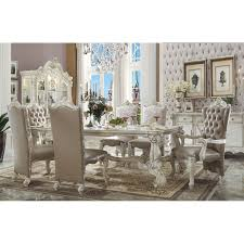 Acme Dining Room Sets by Acme Furniture Versailles Rectangular Dining Table Bone White