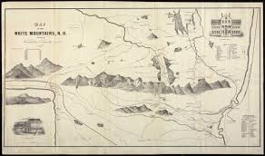 Nh Map Map Of The White Mountains N H Digital Commonwealth