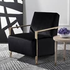Black Accent Chair Shop Safavieh Orna Casual Black Accent Chair At Lowes Com