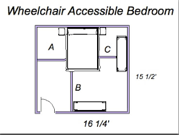 Floor Plans For Handicap Accessible Homes Ada Universal Design What Size Is A Wheelchair Accessible Bedroom