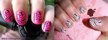 zebra pattern nail art zebra print nails step by step tutorial how to do nail art guide