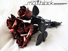 metal roses roses of steel mattblack speedshop