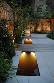 how to design garden lighting rills are water features that add dimension ambiance soul