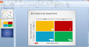 free boston consulting group matrix template for powerpoint free