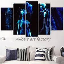 5piece canvas pictures prints calligraphy painting posters