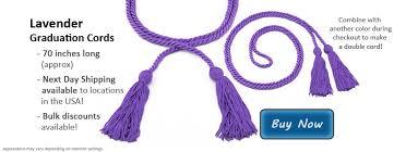 graduation cords cheap lavender graduation cords from honors graduation