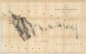Yuma Arizona Map by Map No 1 Of The El Paso U0026 Fort Yuma Wagon Road David Rumsey