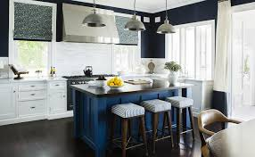 blue kitchen island blue kitchen island with woof countertop contemporary kitchen