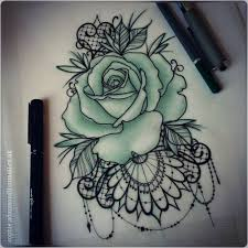 25 trending lace rose tattoos ideas on pinterest black lace