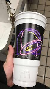 work at taco bell we opened up a box of cups with the mcdonald u0027s