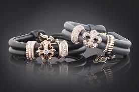leather bracelet silver charms images Fleur de lis charm rose gold leather bracelet women rebeligion jpg