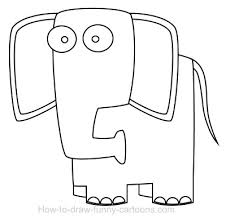 elephant cartoon drawing free download clip art free clip art